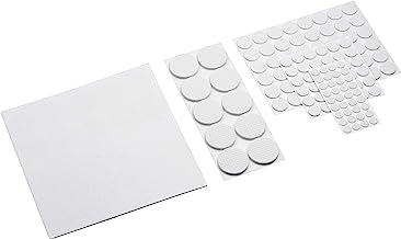Metafranc Vilten glijderassortiment 131-delig - zelfklevend - wit - effectieve bescherming van uw meubels & stoelen/meubel...