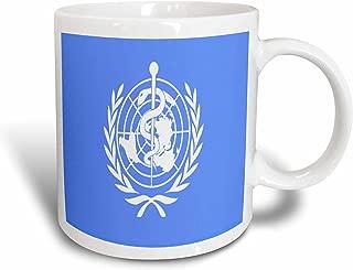 3dRose mug_62571_1 World Health Organization Flag Ceramic Mug, 11-Ounce