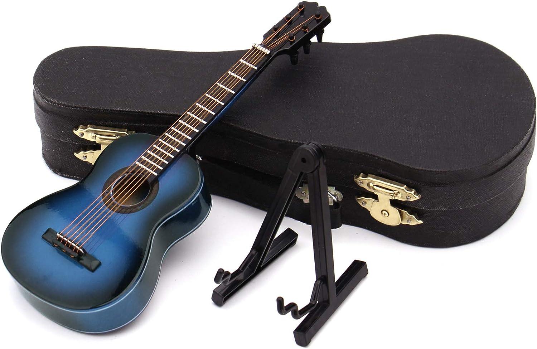 Guajave Réplica en miniatura para bajo, réplica de guitarras en miniatura, miniatura, mini guitarra clásica/modelo de guitarra eléctrica, adorno festivo