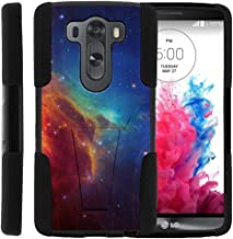 TurtleArmor | Compatible with LG V10 Case | LG G4 Pro Case [Gel Max] Hybrid Dual Layer Hard Shell Kickstand Silicone Case - Colorful Nebula Galaxy
