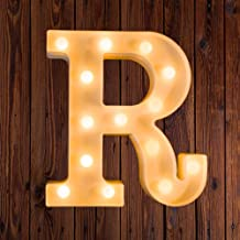 LED Marquee Number Lights Sign Light Up Marquee Letter Lights Sign for Night Light Wedding Birthday Party Battery Powered Christmas Lamp Home Bar Decoration R