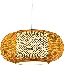 NC Lanterna de bambu vintage Candelabro Lâmpada suspensa de teto Zen Café Bar Clube Restaurante Sala de estar Decoração de...