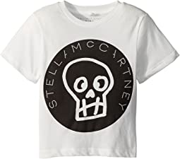 Stella McCartney Kids - Arrow Short Sleeve Skull T-Shirt w/ Logo Lettering (Toddler/Little Kids/Big Kids)