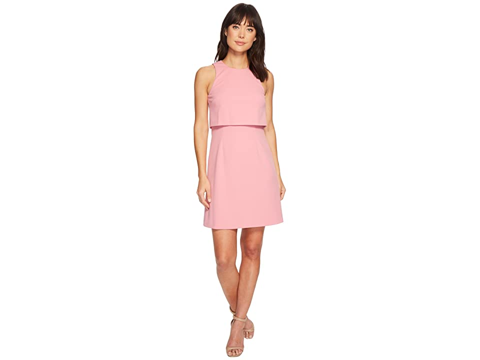 Donna Morgan Sleeveless Fit and Flare Pop-Over (Pink Sherbet) Women