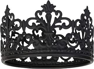 Crown Cake Topper Prince Princess Parties (Black, Small)