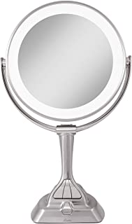 Zadro LED Variable 3-Color Lighted Dual-Sided 10X/1X Magnification Vanity Makeup Mirror for Bedroom, Bathroom and Tabletop...