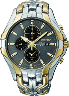 Seiko Men's Excelsior Two-Tone Solar Chronograph Watch