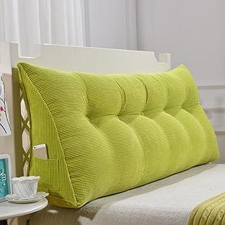 TW1000 Cuña Triangular,posicionamiento Cojín De Respaldo De Apoyo Suave Almohada De Lectura para Sofá Cama De Día Cubierta Lavable-Verde 70x50x20cm(28x20x8)