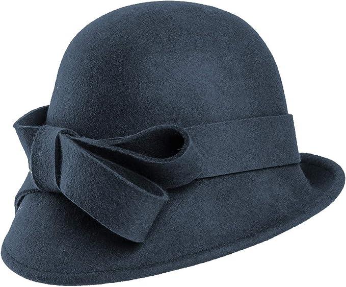 1920s Accessories: Feather Boas, Cigarette Holders, Flasks Hawkins Collection Wool Felt Vintage Cloche Bow Hat £22.99 AT vintagedancer.com