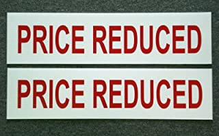 Peter Select (2) Price Reduced 6 x 24 Real Estate Sign Riders 2 Sided Outdoor New Funny Retro Vintage Business Nostalgic Signs