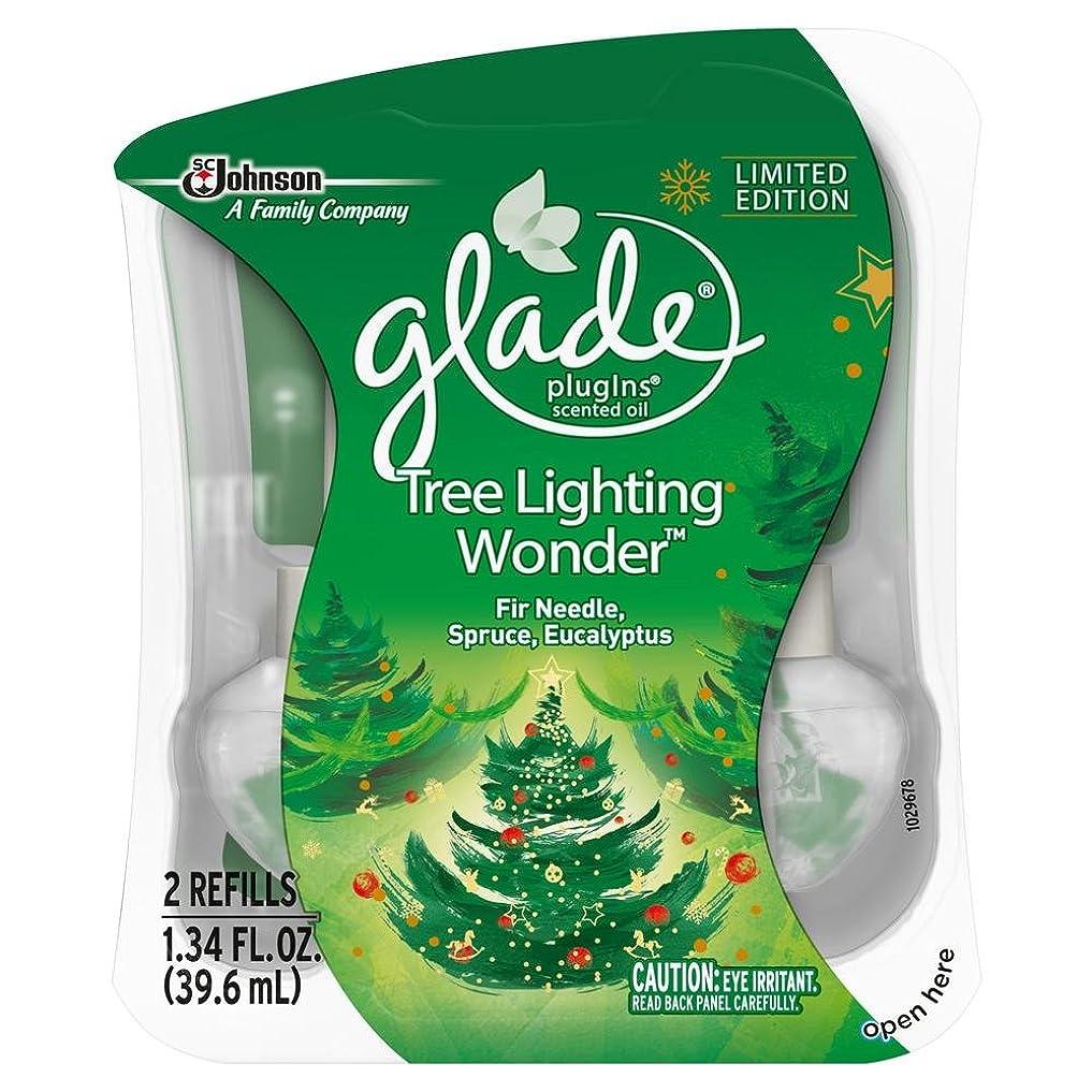 支店レイ天国【glade/グレード】 プラグインオイル 詰替え用リフィル(2個入り) ツリーライティングワンダー Glade Plugins Scented Oil Tree Lighting Wonder 2 refills 1.34oz(39.6ml) [並行輸入品]