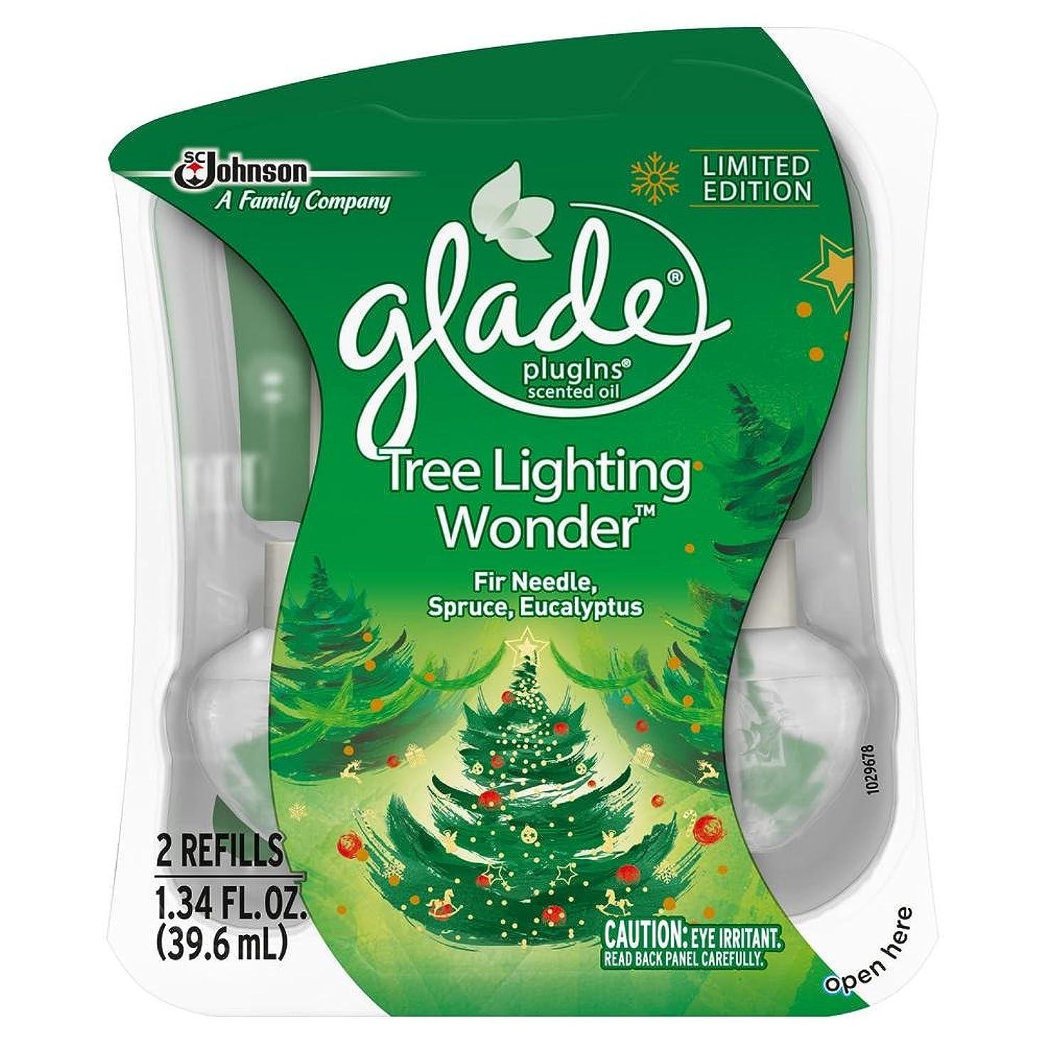 ディレクトリ額法律により【glade/グレード】 プラグインオイル 詰替え用リフィル(2個入り) ツリーライティングワンダー Glade Plugins Scented Oil Tree Lighting Wonder 2 refills 1.34oz(39.6ml) [並行輸入品]