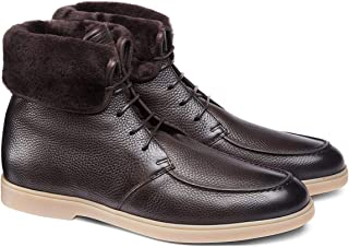 SANTONI made in italy Leather Ankle Boots