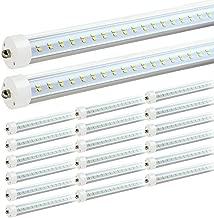 JESLED T8/T10/T12 8FT LED Tube Light, Single Pin FA8 Base, 50W 6000LM, 5000K Daylight White, 96