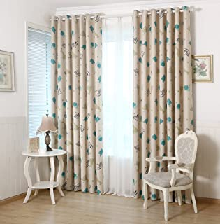 GYROHOME Children Kids Animal Zoo Print Blackout Curtain Grommet Top Thermal Insulated Room Darkening Engery Saving Drape Noise Reducing No Formaldehyde 52