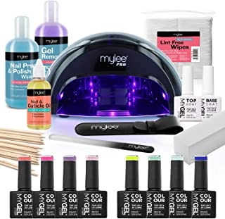 Mylee The Full Works Gel Nail Polish LED Lamp Kit, 8x MYGEL
