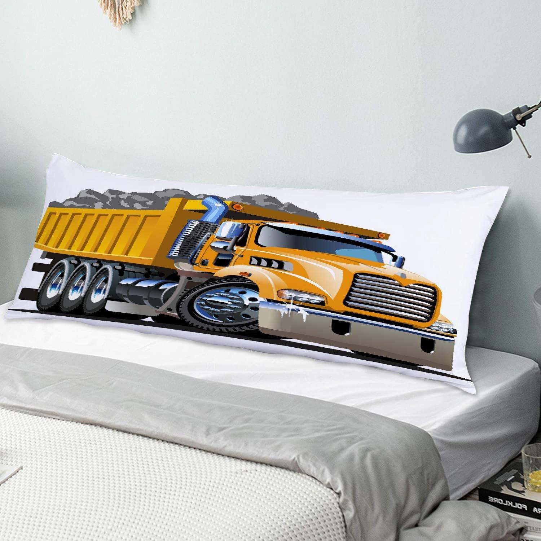NINEHASA Body Pillow Pillowcase Cartoon Truck Super sale period limited Fresno Mall Dump Ul Decorative