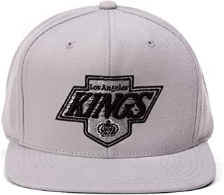 Los Angeles King Hat : Mitchell & Ness Los Angeles Kings Basic Vintage Logo Adjustable Hat - Silver