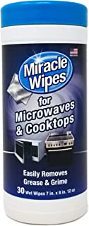 MiracleWipes for Microwaves and Cooktops - Removes Food and Grime Buildup - (30 Count)