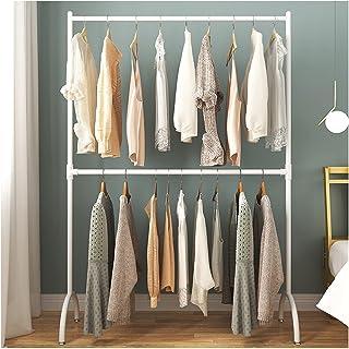 MissZZ Porte-vêtements Porte-vêtements en métal à Double Tige, Porte-vêtements à Hauteur de Tige de Suspension réglable, P...