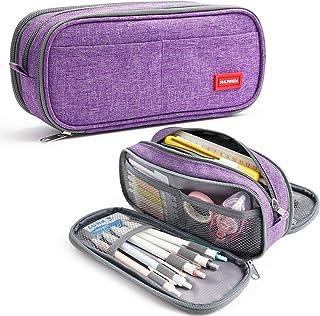 Trousse à Crayons Grande Capacité pochette Porte-stylo 3 Compartiments Scolaires Papeterie Sac de Maquillage Organisateur ...