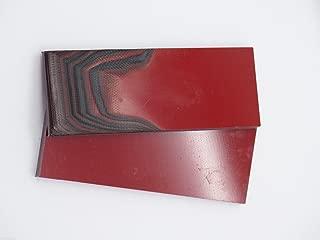 Qty 2 Black & Red G10 1/4 x 1 1/2