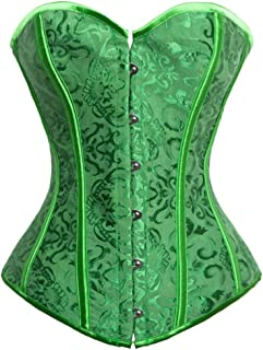 Women's Vintage Palace Jacquard Body Shaper Strapless Overbust Corset