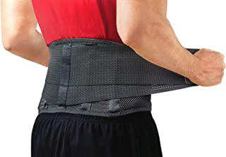 Best Back Brace by Sparthos - Immediate Relief for Back Pain, Herniated Disc, Sciatica, Scoliosis and more! – Breathable Mesh Design with Lumbar Pad – Adjustable Support Straps – Lower Back Belt [Size Med] Reviews