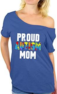 Proud Autism Mom Off Shoulder Shirts Autism Awareness Mom Gifts