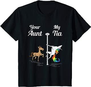 Kids Your Aunt My Tia T-Shirt You Me Party Dancing Unicorn Shirt