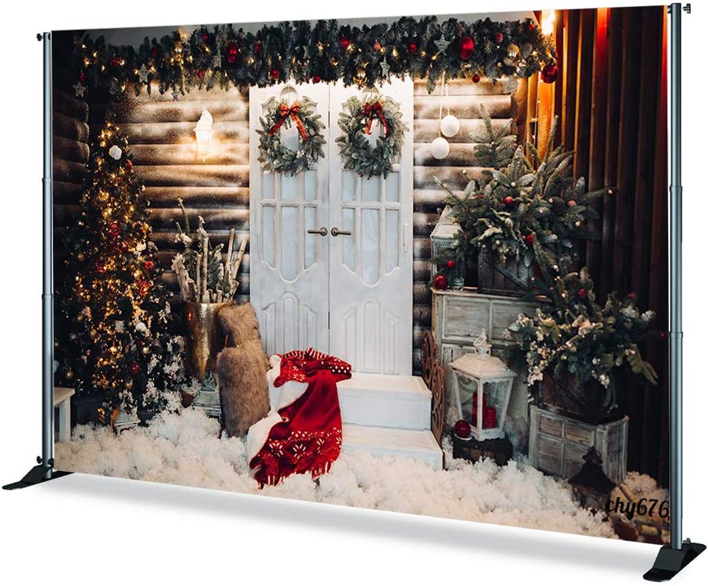 6x4ft,chy680 TCReal Christmas Tree Background Banner Photography Studio Birthday Family Party Christmas Day Celebration Photography Backdrop Warm Home Decoration