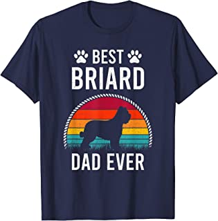 Best Briard DAD Ever Dog Lover Gift T-Shirt