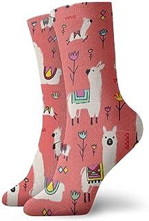 Elsaone, Niños Niñas Locos Divertidos Intemporales Tesoros Alpacas Calcetines de coral Lindos calcetines de vestir de novedad