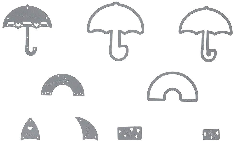 Sizzix Sb Triplits Die Umbrellas
