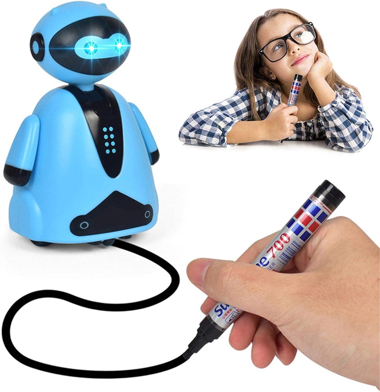 Stylo Magique Follow Any Drawn Line Robots /Électroniques pour Enfants,Jouet Robot Inductif /Électrique Suivez Le Mini Jouet Magique De La Ligne Dessin/ée Magic Pen Induction Automatique Mini Robot