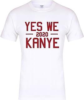 Unisex Slogan T-Shirt Yes We Kanye 2020 White