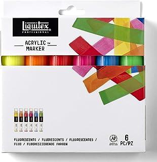 Estojo Marcador Liquitex Paint Marker 15mm 06 Cores Fluorescentes