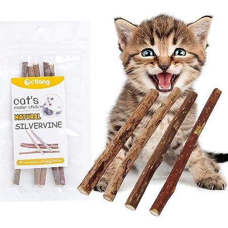 RingBuu 10 Pcs Natural Polygonum Stick Catnip Cat Toys Cleaning Teeth Pure Molar Snacks