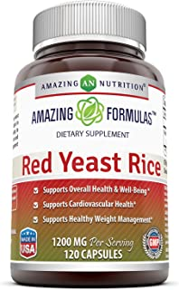 Sponsored Ad - Amazing Nutrition Red Yeast Rice 1200mg Per Serving Capsules