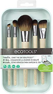 EcoTools-Cruelty Free Start the Day Beautifully Kit-Angled Foundation, Blurring, Defined Crease, Angled Liner, Full Blush Brushes