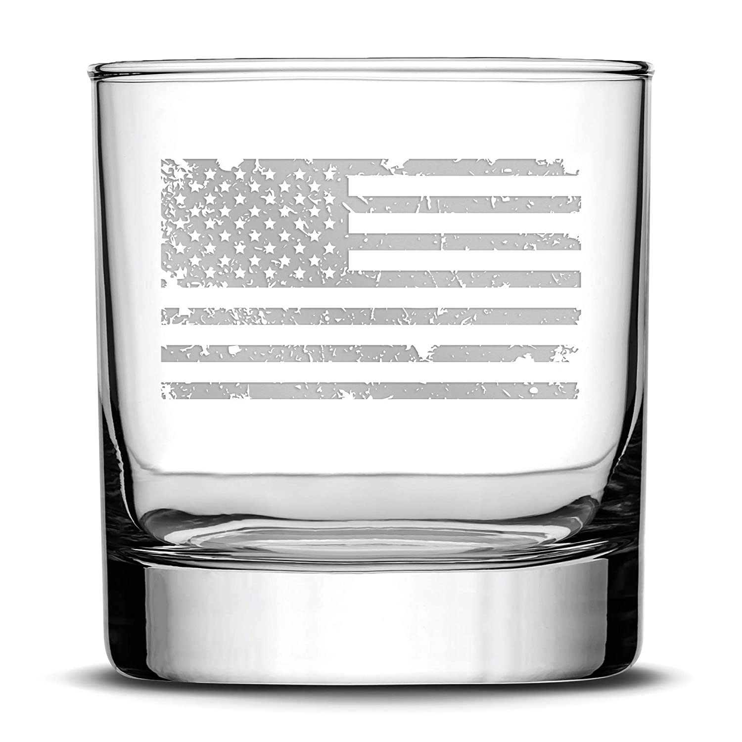 Product Integrity Bottles Premium Distressed American Fees free Whiskey Flag Glass