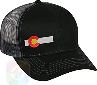 Colorado Flag Bar Structured Snapback Baseball Mesh Hat Cap #1445
