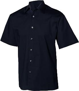 Henbury Mens Short Sleeve Fitted Work Shirt