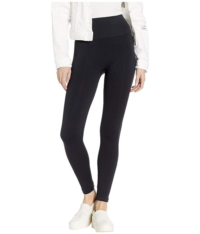 Yummie Skimmer Length Seamless Shaping Leggings (Black) Women