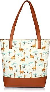 Mammon Women's Multi-colored Tote hand bag (tote-giraffe)