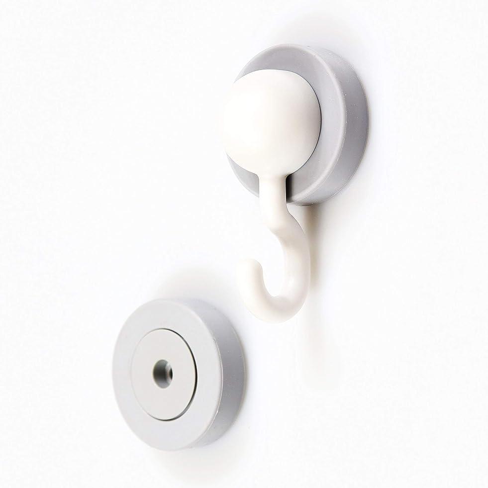社員シンカン権限を与えるマグエバー(Magever) フック ホワイト 5.3×3.1×2.9cm シリコンマグネット マグサンド jフック