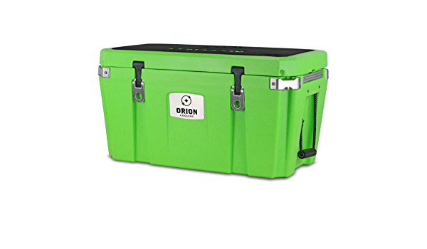 Camping and Long Lasting Fishing Great for Hunting Bear Resistant Orion Heavy Duty Premium Cooler Durable Insulated Outdoor Ice Chest for Maximum Cold Retention Portable 65 Quart, Ember