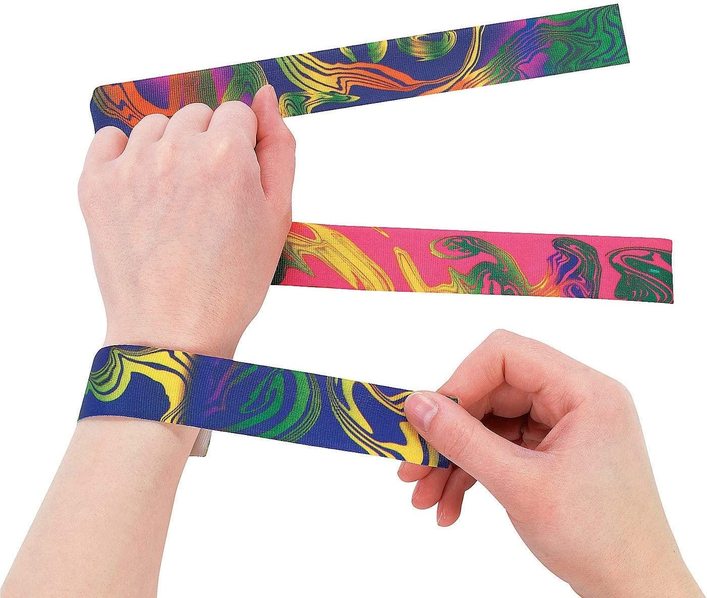 Dozen Nylon Special price for a limited time Weekly update Tie-Dyed Slap Bracelets