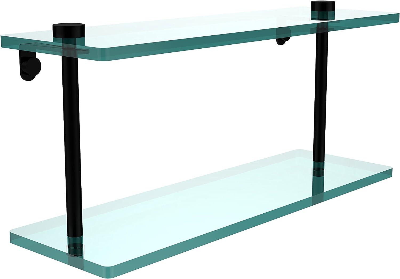 Allied Brass NS-2 16-BKM 16-Inch Double Glass Shelf