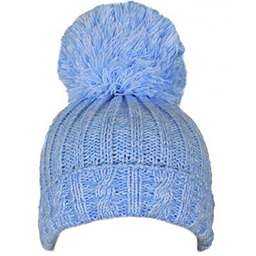 6054be6deb9 Soft Touch Baby Boys Girls Cable Knit Hat with Large Pom-Pom 0-12